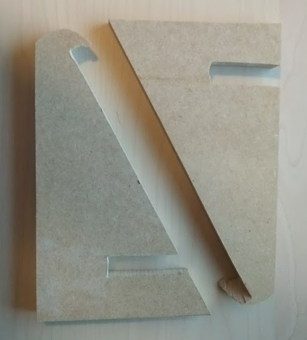 Two MDF parts